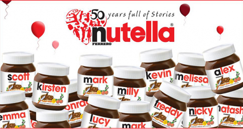 Digital Printing - Nutella
