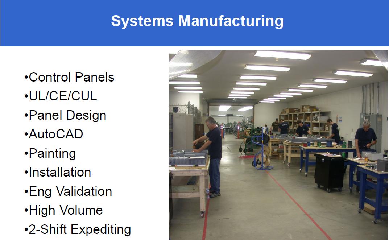 System Manufacturing Slide